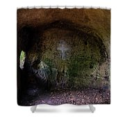 The Hermit's Cross Shower Curtain