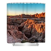 The High And Low Of The Badlands Shower Curtain