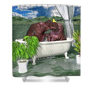 The Hippo Tub Shower Curtain