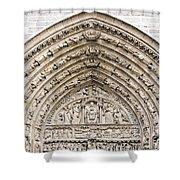 The Judgement Portal Of Notre Dame De Paris Shower Curtain