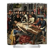 The Judgment Of Cambyses, Flaying Of Sisamnes Shower Curtain