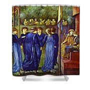The King Wedding 1870 Shower Curtain