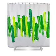 The Kingdom Of Green Shower Curtain