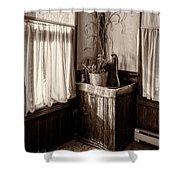 The Kitchen Water Pump Shower Curtain