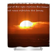 The Light Of The Eyes Shower Curtain