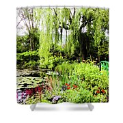 The Lily Pond Trail Shower Curtain