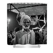 The Many Shades Of Delhi - Turbaned Man Shower Curtain