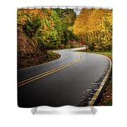 The Mountain Road Shower Curtain