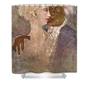 The Mulatto And The Sculpturesque White Woman 1913 Shower Curtain