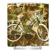 The News Cycle Shower Curtain