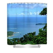 The North Bay As Seen From Mount Harriett Shower Curtain