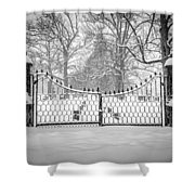 The North Gates Shower Curtain by Kendall McKernon