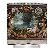 The Nymph Of Fontainebleau  Shower Curtain