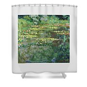 The Nympheas Basin - Digital Remastered Edition Shower Curtain