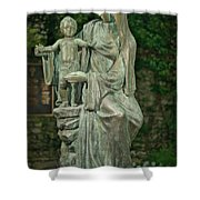 The Offering Statue Shower Curtain