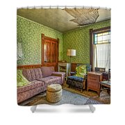 The Old Farmhouse Living Room Shower Curtain