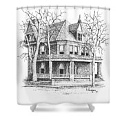 The Old Governors Mansion,  Helena, Montana Shower Curtain