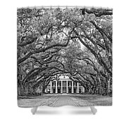 The Old South Version 3 Bw Shower Curtain