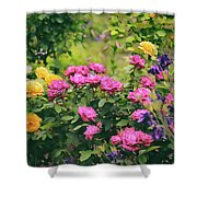 The Painted Garden Shower Curtain
