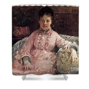 The Pink Dress Also Known As Poop - 1870 - Pc Shower Curtain