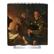 The Pipes By Firelight Shower Curtain