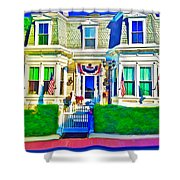 The Prince Albert Guesthouse-provincetown, Massachusetts  Shower Curtain