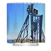 The Provider At Chatham Fish Pier Shower Curtain