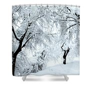 The Pure White Of Snow Shower Curtain