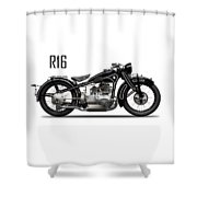 The R16 Motorcycle Shower Curtain