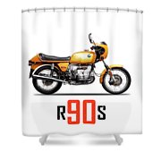 The R90s Motorcycle Shower Curtain