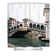 The Rialto Bridge  Shower Curtain