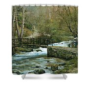 The River Psirzha Shower Curtain