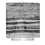 The Road From Casper Shower Curtain