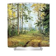 The Road Into The Forest Shower Curtain