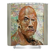 The Rock From California Shower Curtain