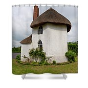 The Roundhouse Aged Shower Curtain