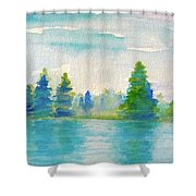 Somewhere To Be  Shower Curtain