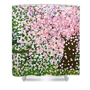 The Scenery Of Spring Shower Curtain