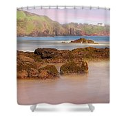 The Sea Fog Of St Cyrus - Scotland - Rock Hall Fishing Station Shower Curtain by Jason Politte
