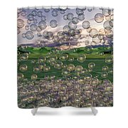 The Simplicity Of Bubbles  Shower Curtain