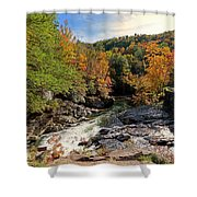 The Sinks On Little River Road In Smoky Mountains National Park Shower Curtain