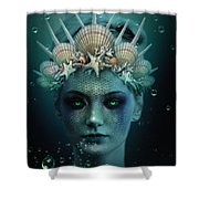 The Siren Shower Curtain by Marianna Mills
