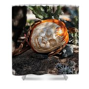 The Sleeping Pumpkinman  Shower Curtain