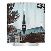 The Spire - Cathedral Of Notre Dame Paris France Shower Curtain