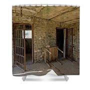 The Stone Jailhouse Interior Shower Curtain