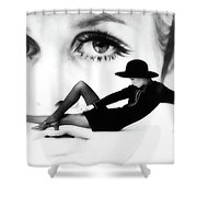 Twiggy Swinging 60's - Pop Art Shower Curtain