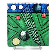 The Tennis Match Shower Curtain