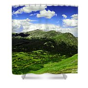 The Top Of Independence Pass Shower Curtain