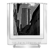 The Twin Towers Of San Gimignano, Italy Poster Shower Curtain