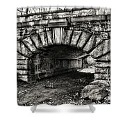 The Underpass Black And White Shower Curtain